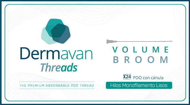 Hilos monofilamento para volumen y redensificación Dermavan Threads Volume Broom